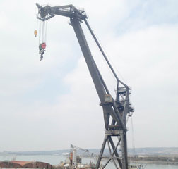 200 ton Lift Shear Leg floating Harbour Crane Self-Propelled Canute