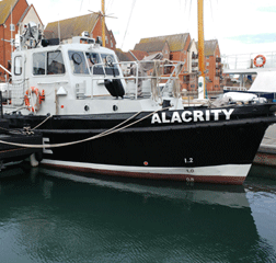 "Patrol and Research Vessel 13.5m ""Alacrity"" Road Transportable Coded MCA Cat 2 60nm from safe haven"